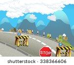 cartoon background  ...   Shutterstock . vector #338366606