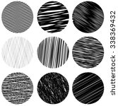 vector set of black diagonal... | Shutterstock .eps vector #338369432