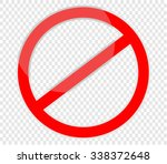 not allowed sign  red | Shutterstock .eps vector #338372648