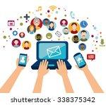 social media design with... | Shutterstock .eps vector #338375342