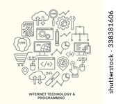 internet technology and... | Shutterstock .eps vector #338381606