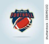 american football logo template ... | Shutterstock .eps vector #338390102