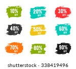 christmas  new year  black... | Shutterstock .eps vector #338419496