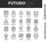 modern thin line icons set of... | Shutterstock .eps vector #338430158