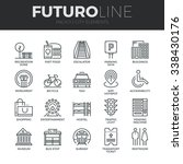 modern thin line icons set of... | Shutterstock .eps vector #338430176