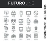 modern thin line icons set of... | Shutterstock .eps vector #338430185