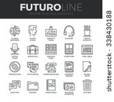 modern thin line icons set of... | Shutterstock .eps vector #338430188