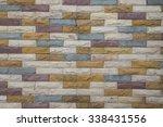 pattern of travertine natural... | Shutterstock . vector #338431556