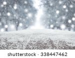 desk space and winter... | Shutterstock . vector #338447462
