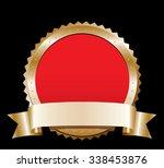 blank gold label   Shutterstock .eps vector #338453876