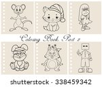 collection of coloring book...   Shutterstock .eps vector #338459342