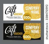 gift card design with gold... | Shutterstock .eps vector #338470592