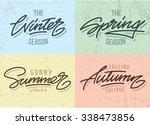 seasons vector inscriptions.... | Shutterstock .eps vector #338473856