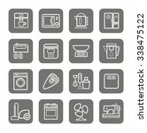 household appliances  icons ... | Shutterstock .eps vector #338475122