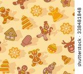flat vector christmas... | Shutterstock .eps vector #338481848