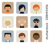 retro avatars icons set in flat ...