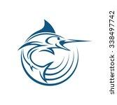 marlin fish signal | Shutterstock .eps vector #338497742