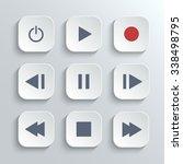 media player control ui icon...