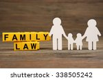 cutout family and blocks with... | Shutterstock . vector #338505242