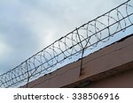 Barbed Wire Stretched Along Th...