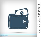 wallet with dollars icon | Shutterstock .eps vector #338509412