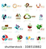 geometric shapes company logo... | Shutterstock .eps vector #338510882
