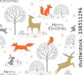 christmas seamless pattern with ... | Shutterstock .eps vector #338511296