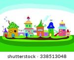 little town vector illustration | Shutterstock .eps vector #338513048