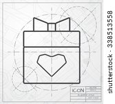vector blueprint of present... | Shutterstock .eps vector #338513558