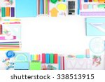 a set of stationery isolated on ... | Shutterstock . vector #338513915