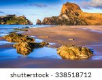 Sea  Rocks And Hills Landscape...