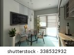 modern kitchen 3d rendering  | Shutterstock . vector #338532932