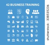 business training  icons  signs ... | Shutterstock .eps vector #338535236