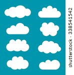 clouds shapes collection.... | Shutterstock .eps vector #338541542