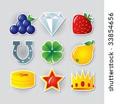 slot symbols set 2.   Shutterstock .eps vector #33854656