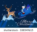 merry christmas greeting card... | Shutterstock . vector #338549615