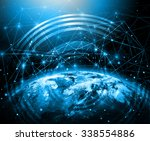 best internet concept of global ... | Shutterstock . vector #338554886
