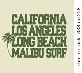 surfing t shirt graphic design. ... | Shutterstock . vector #338555258