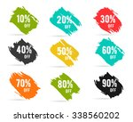 christmas sale percents  new... | Shutterstock .eps vector #338560202