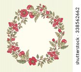 vector vintage greeting card... | Shutterstock .eps vector #338562662