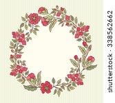 vector vintage greeting card... | Shutterstock .eps vector #338562662