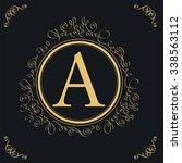 monogram typeface a   Shutterstock .eps vector #338563112