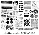 vector set of grungy hand drawn ... | Shutterstock .eps vector #338566136