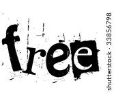 the word free written in grunge ... | Shutterstock .eps vector #33856798