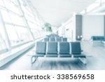 abstract blur airport interior... | Shutterstock . vector #338569658
