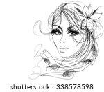 vector  stylish  original hand... | Shutterstock .eps vector #338578598