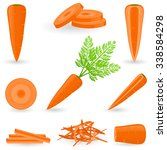 icon set carrot | Shutterstock .eps vector #338584298