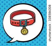 Pet Collar Doodle  Speech Bubble