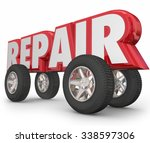 repair word in 3d letters with... | Shutterstock . vector #338597306