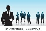 a man in business ahead of the... | Shutterstock .eps vector #33859975
